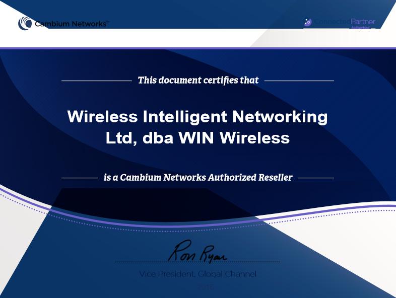 Cambium partner certificate